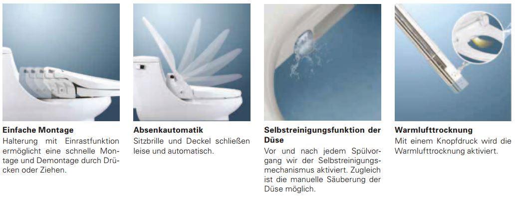 aquatec pure bidet wc aufsatz mit wascheinrichtung mit. Black Bedroom Furniture Sets. Home Design Ideas