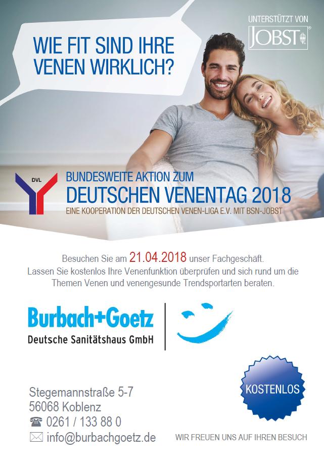 Venentag 21.04.2018 im Sanitätshaus Burbach + Goetz
