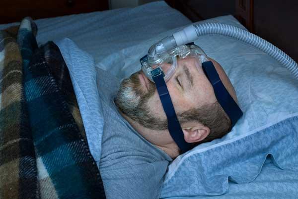 CPAP Maske in Anwendung