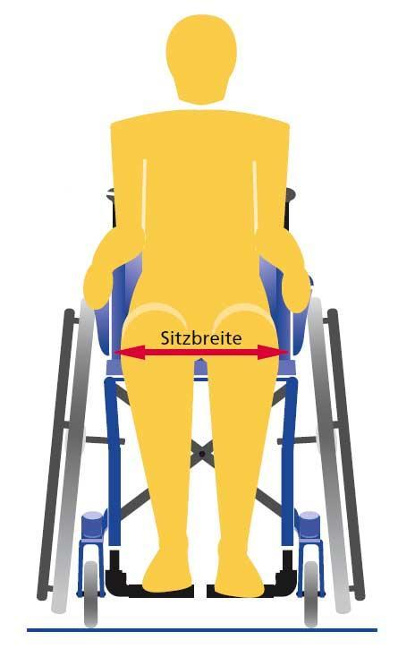 Sitzbreite-Rollstuhl